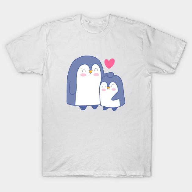 74991351d Cartoon Cute Penguin Family Art - Penguin Cartoon - T-Shirt | TeePublic