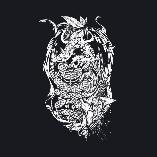 Snake Dragon (white)