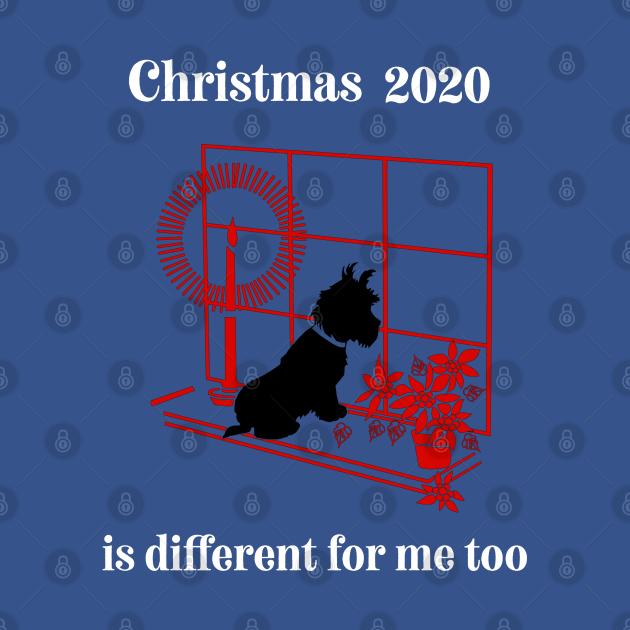 Christmas terrier dog tee