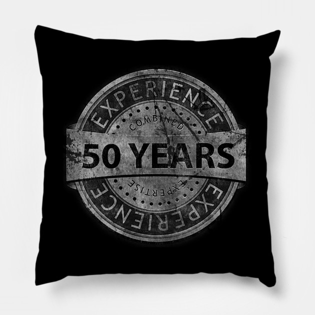 50th Birthday Gift Vintage Tough Style For Parents Husband Or Friend Pillow