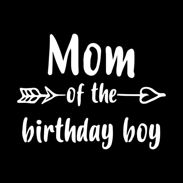 Womens Mom Of Birthday Boy Shirt Gift