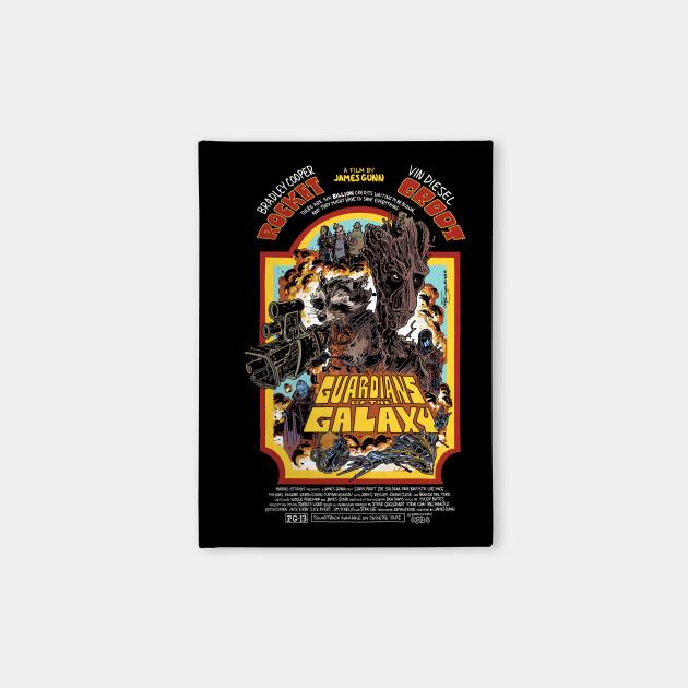 Guardians of the Galaxy retro poster (dark)