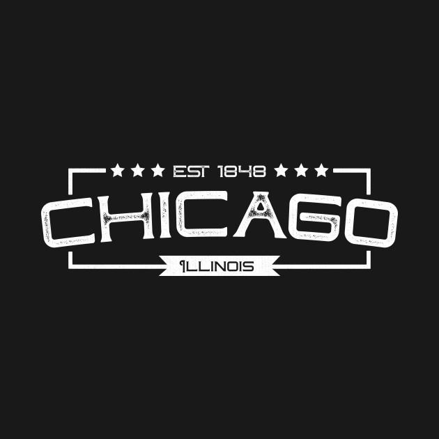 Rustic Classic Retro Vintage Chicago Illinois Gift