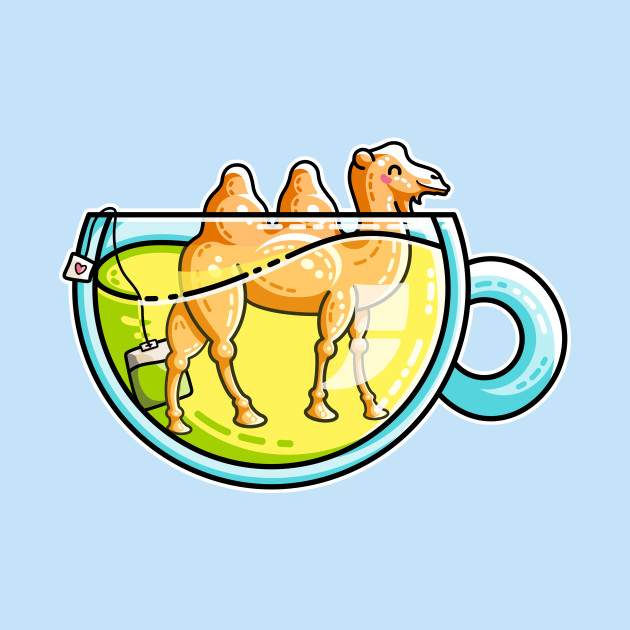 Camel-Mile-Tea Kawaii Cute Chamomile Tea Pun