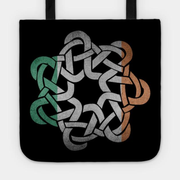 Beautiful Irish Flag Colored Celtic Ornament Knot