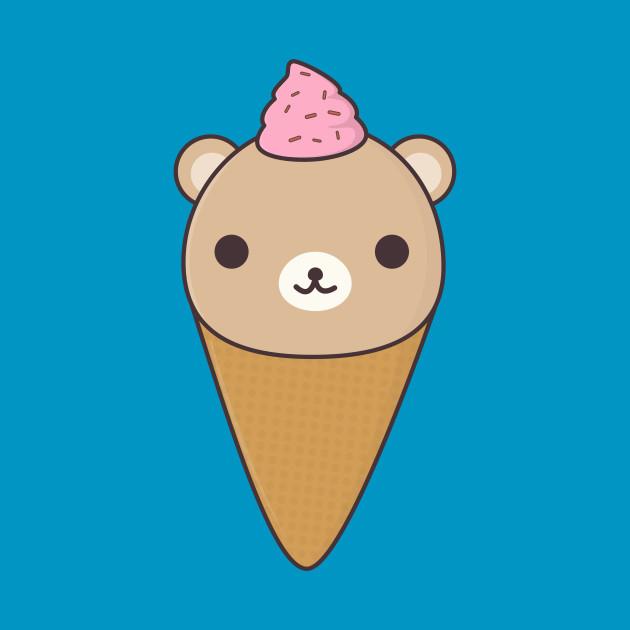 kawaii ice cream bear bear t shirt teepublic