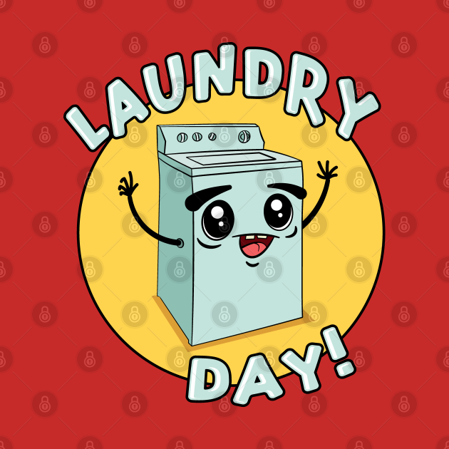 Laundry Day Cute Kawaii Washing Machine