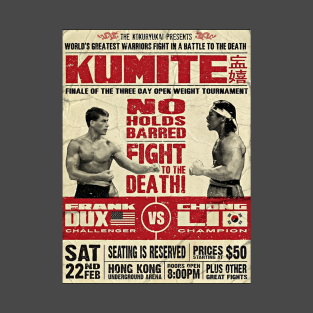 Bloodsport Poster t-shirts
