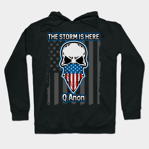 Q Anon The Storm Is Here Patriotic American Flag