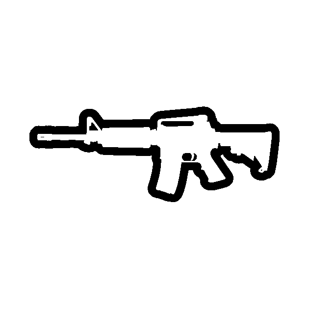 Ar 15 Rifle Silhouette Ar 15 Sticker Teepublic Pistol gun icon vector silhouette illustration isolated on white. ar 15 rifle silhouette