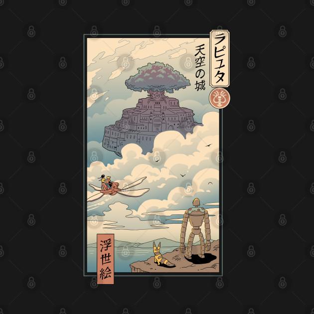 Sky Castle Ukiyo e