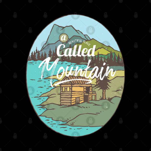Outdoors Mountain Hiking Beautiful Colorful Cartoon Cabin