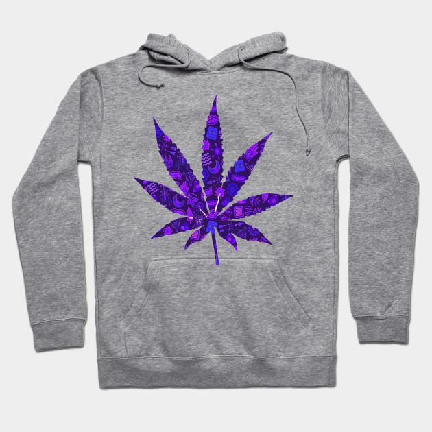 Purple Weed Cannabis Design Cool Weed Hoodie Teepublic