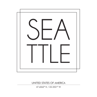 Seattle city typography 2 t-shirts