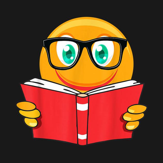 I Love Emoji Reading Teacher Shirt Gifts Reader Book Lover