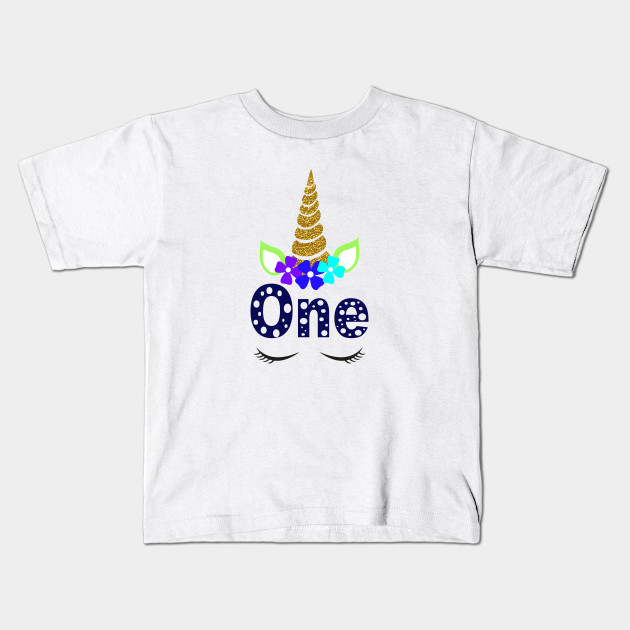 Unicorn 1 Year Old Birthday Shirt First T