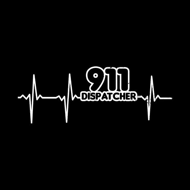 911 Dispatcher Shirt | Heartbeat ECG Gift