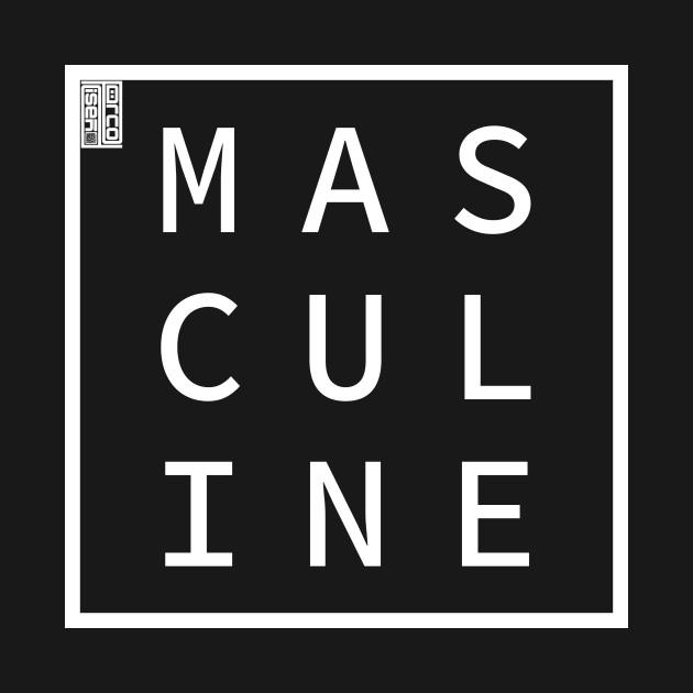MASCULINE Define Me Word Simple Classic Square Box