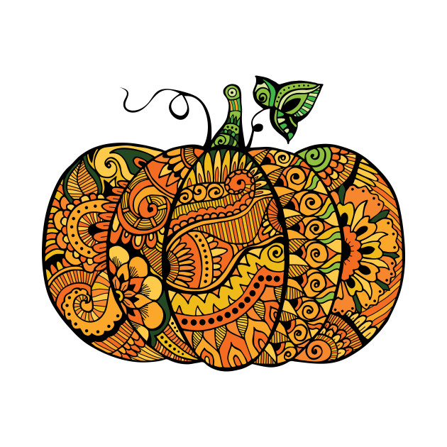 1de72b81 Zentangle pumpkin - Pumpkin - T-Shirt | TeePublic