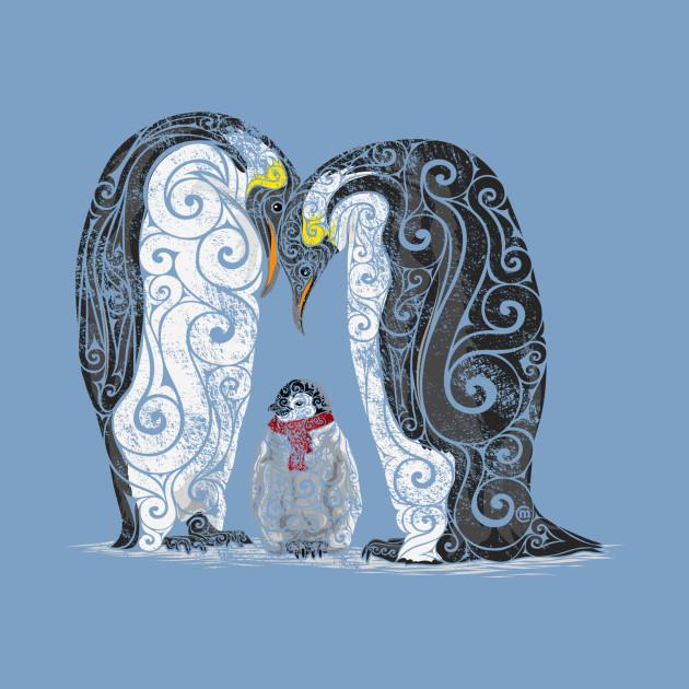 Swirly Penguin Family