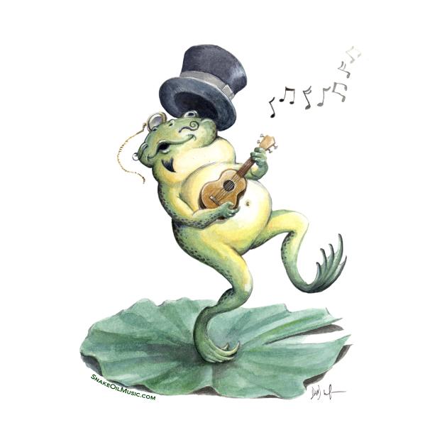 Dancing Ukulele Frog