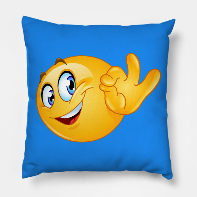 Cuscini Emoticon.Ok Sign Emoji Emoji Cuscino Teepublic It