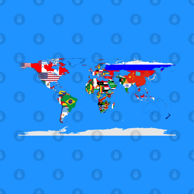 World Map - Country Flags