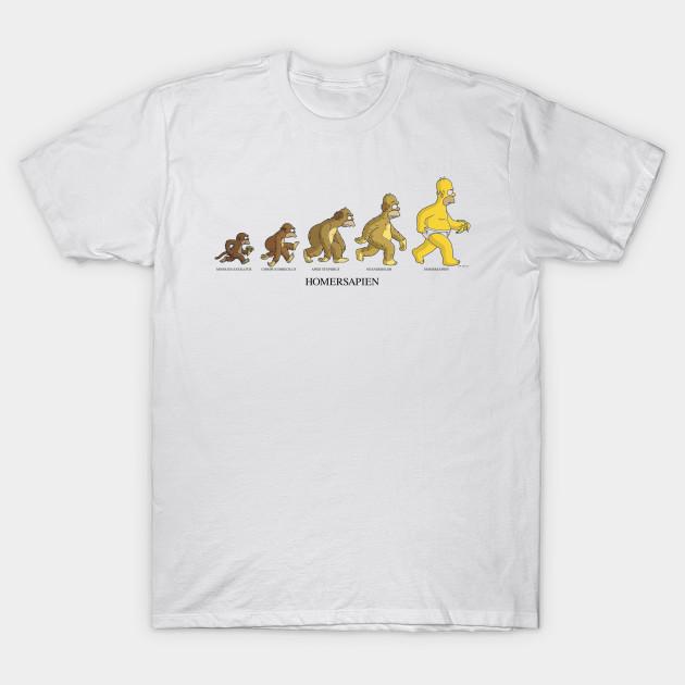 cbc6763644 Homer Sapien Simpsons Homersapian Evolution - Simpsons - T-Shirt ...
