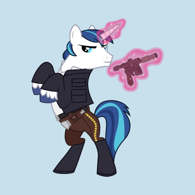 shining armor as han solo my little pony t shirt teepublic