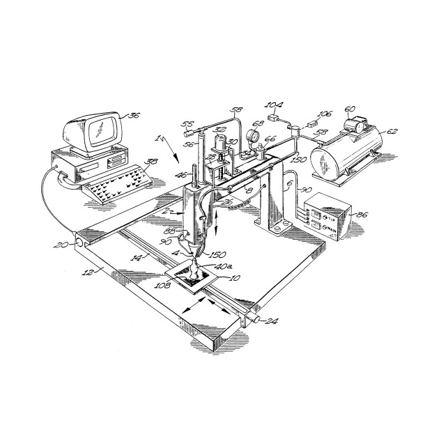 Method for Creating 3D Objects Vintage Patent Hand Drawing