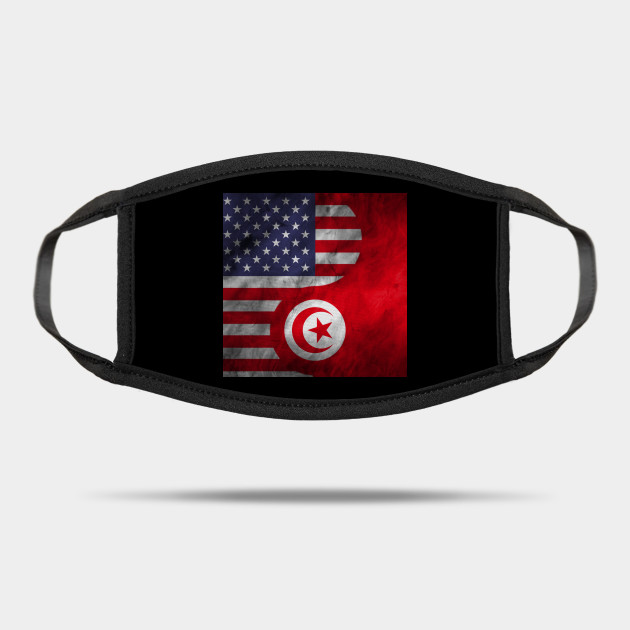 Usa And Tunisia Dual Flag Yin Yang Combination Tunisian Mask Teepublic