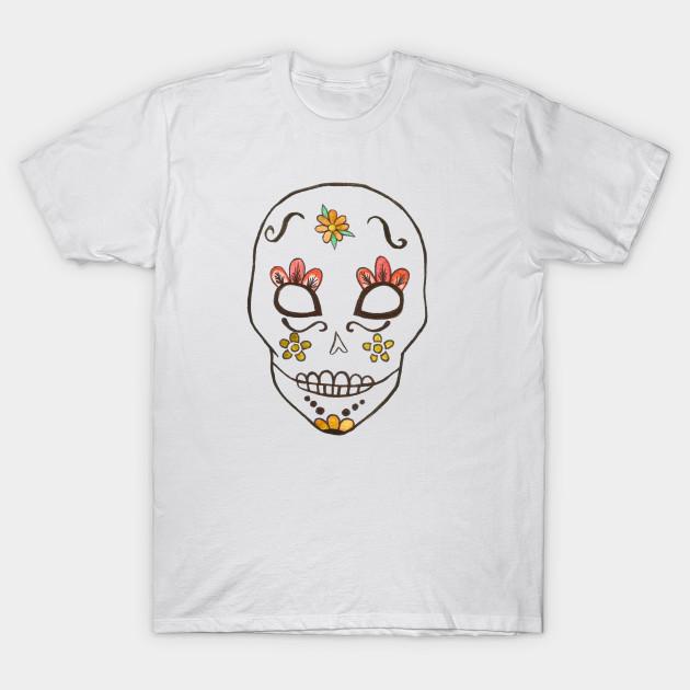 3561f81b6842f5 Fun watercolor sugar skull print - Sugar Skull - T-Shirt