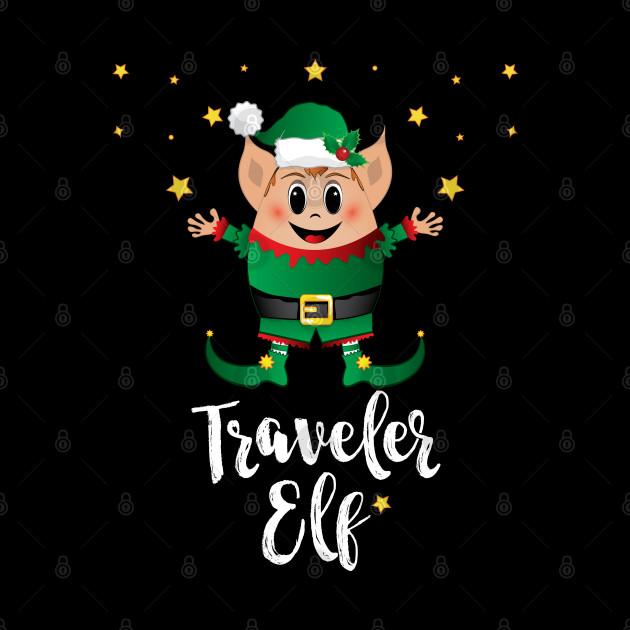 Traveler Elf Christmas Elves Xmas Matching Family Group