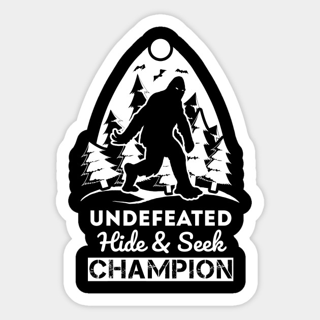 ebff8bc5a369 Undefeated Hide And Seek Champion Shirt Bigfoot Believer Tshirt Gift Tee ...
