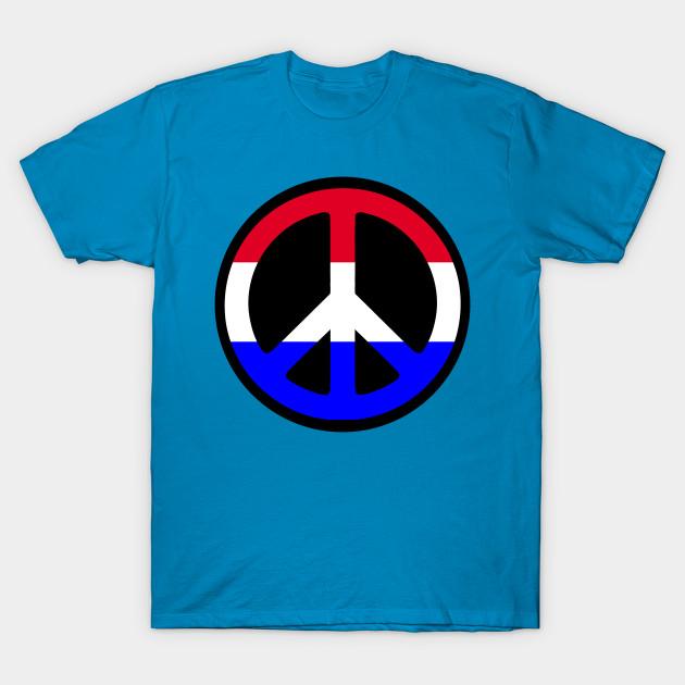 Peace Sign Red White Blue Peace T Shirt Teepublic