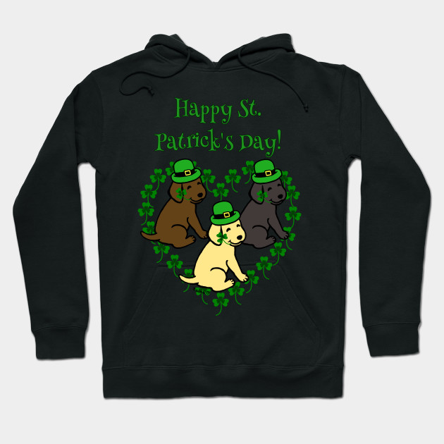 Happy St Patrick/'s Day Mens Womens Ladies Hoodie Hooded Top
