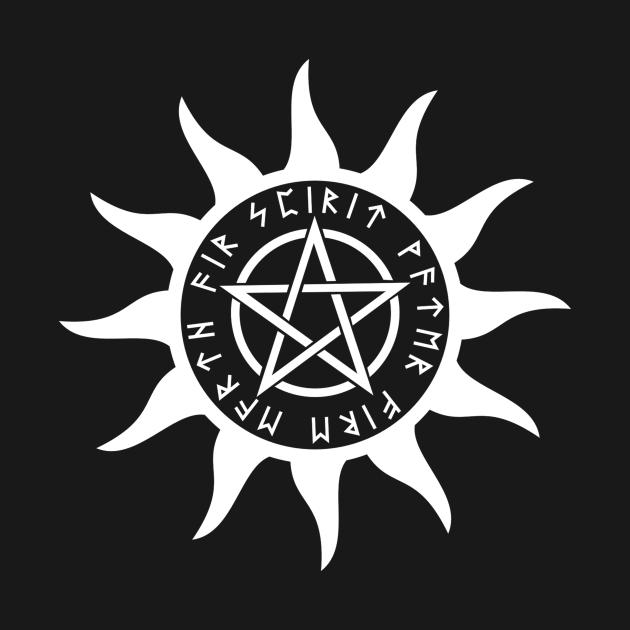 Pentacle Sun with Runes