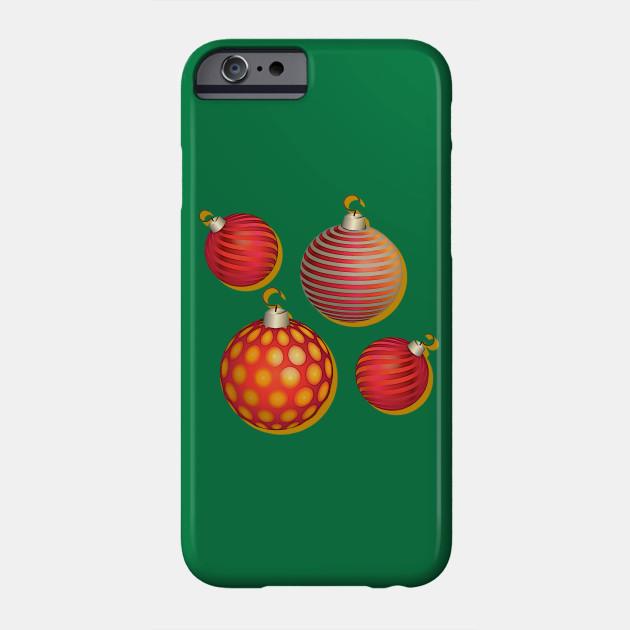 colorful christmas tree balls, christmas, ugly christmas Phone Case