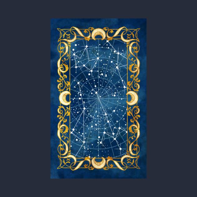 Fantasy Star Chart  Star Chart  TShirt  Teepublic