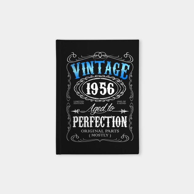 3698c2d9 Vintage 1956 aged to perfection 60th birthday gift for men 1956 60 birthday  Notebook