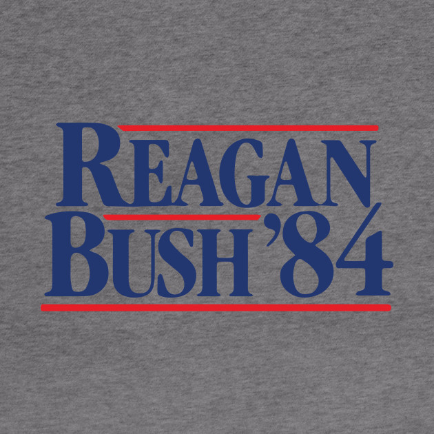 Vintage 80s Stranger Things Reagan Bush 84