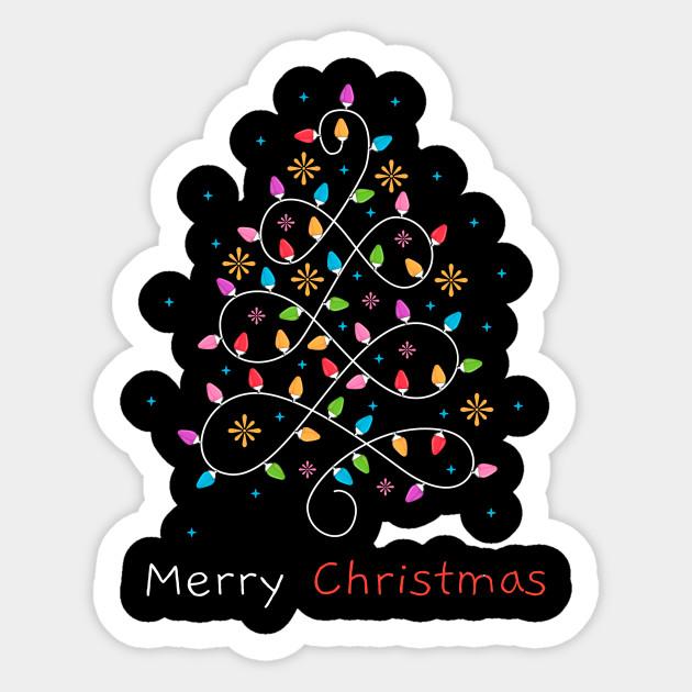 Merry Christmas Lights Tree Xmas Family