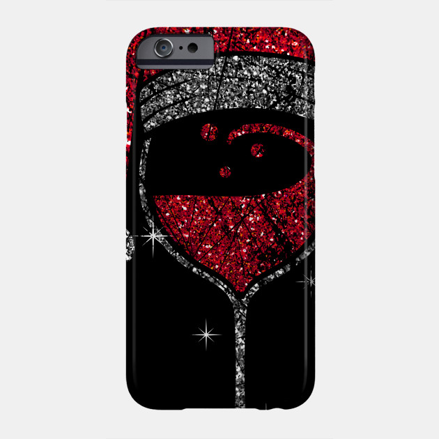 Wine Glass Christmas Wineglass Christmas Phone Case