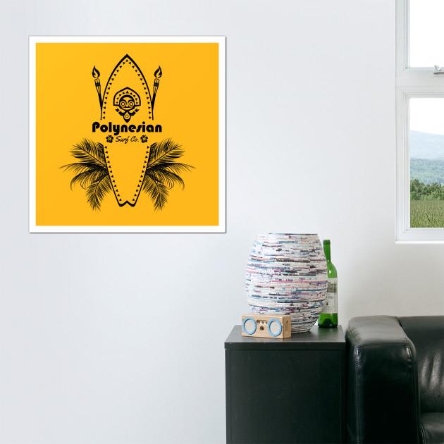Polynesian Surf Co. - Polynesian - Posters and Art | TeePublic