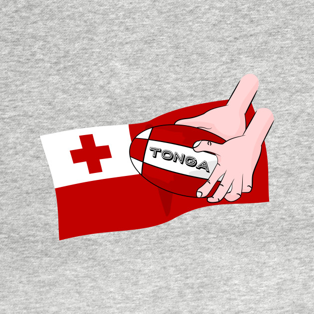 South Africa Rugby T Shirt By Mailboxdisco Design By Humans: Tonga Rugby Flag - Kingdom Of Tonga - T-Shirt