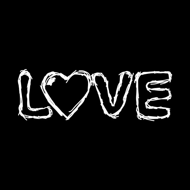 Love Handwritten Creative Black