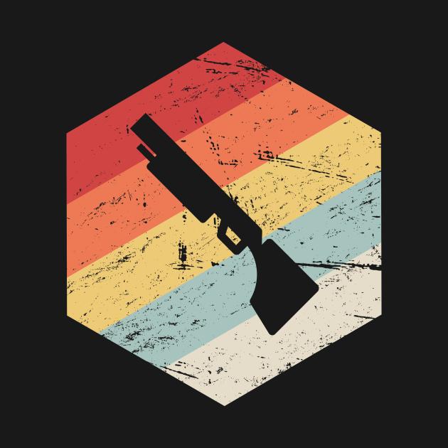 Retro 70s Shotgun Icon   Skeet Shooting
