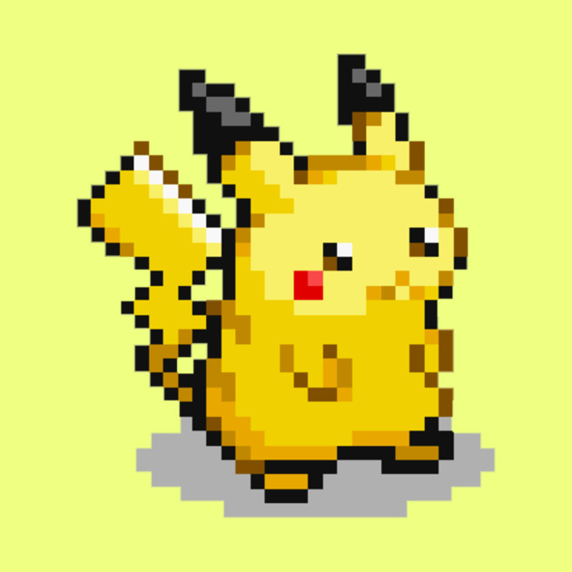 how to make pikachu pixel art