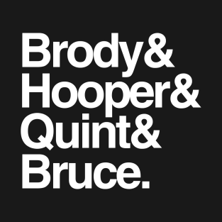 Jaws - Brody and Hooper and Quint and Bruce t-shirts