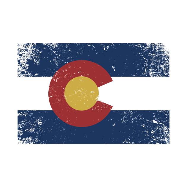 Distressed Colorado State Flag - Colorado - T-Shirt ...  Distressed Colo...